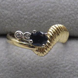 サファイア  750ゴールド リング 10号 3.2g(リング(指輪))