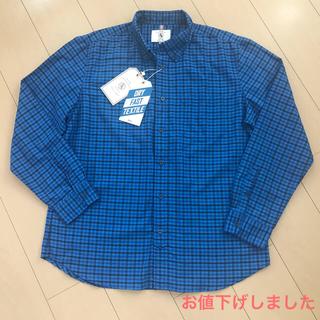 エーグル(AIGLE)の新品タグ付  AIGLE 吸水速乾ギンガムチェックBDシャツ XL(シャツ)