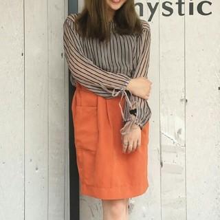 ミスティック(mystic)の【新品】mysticミスティック★ポケットタックタイトスカート(ひざ丈スカート)