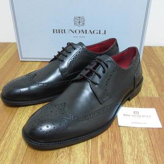 ブルーノマリ(BRUNOMAGLI)の新品 ブルーノマリ イタリア ウイングチップ メダリオン 26cm-26.5cm(ドレス/ビジネス)