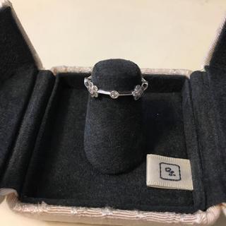 ヨシノブ(現アベリ)プラチナダイヤモンドリングフラワー箱保証書あり 0.15ct(リング(指輪))