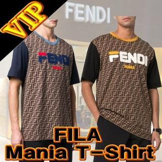 フェンディ(FENDI)のFENDI & FILA Logo Mania Monogram T-Shirt(Tシャツ/カットソー(半袖/袖なし))