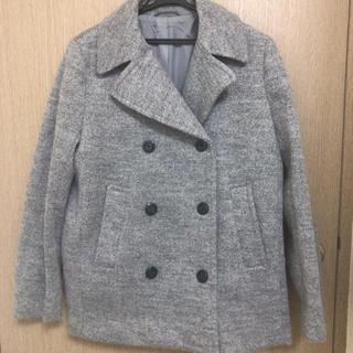 ジーユー(GU)の冬/Pコート ピーコート/グレー/ジーユー/GU/Lサイズ(ピーコート)