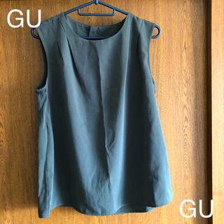 ジーユー(GU)のGU ノースリーブトップス(シャツ/ブラウス(半袖/袖なし))