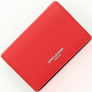 サンローラン(Saint Laurent)のサンローラン 三つ折り財布 クラシック ミニウォレット レッド (財布)