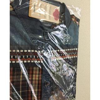 新品♡定価15900円 デシグアル メンズ デニムシャツ L 週末セール‼️