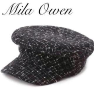 ミラオーウェン(Mila Owen)の新品 未使用  キャスケット BLK(キャスケット)