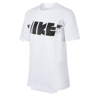 サカイ(sacai)のS Nike SACAI ハイブリッド Tシャツ ホワイト (Tシャツ(半袖/袖なし))