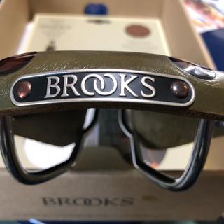 ブルックス(Brooks)のブルックス オリーブグリーン大鋲サドル BROOKS(パーツ)