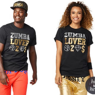 ズンバ(Zumba)の☆正規品☆ズンバZUMBA Lovers Tee (Bold Black)(Tシャツ(半袖/袖なし))