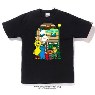 A BATHING APE - BAPE セサミストリート Tシャツ APE ア ベイジング エイプ ブラック