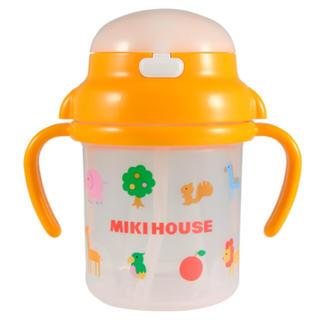 ミキハウス(mikihouse)の▶︎ミキハウス◀︎ストローマグ  新品未使用 イエロー アニマル ベビー食器(マグカップ)