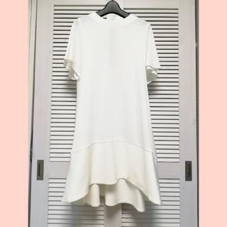 ドゥロワー(Drawer)のYOKO CHAN ♡ ヨーコ チャン ♡Aラインワンピース 36 ホワイト(ひざ丈ワンピース)