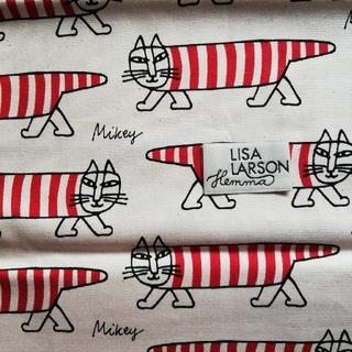 リサラーソン(Lisa Larson)のリサ・ラーソン 生地 縦約50cm×横約65cm タグ1枚付き(生地/糸)