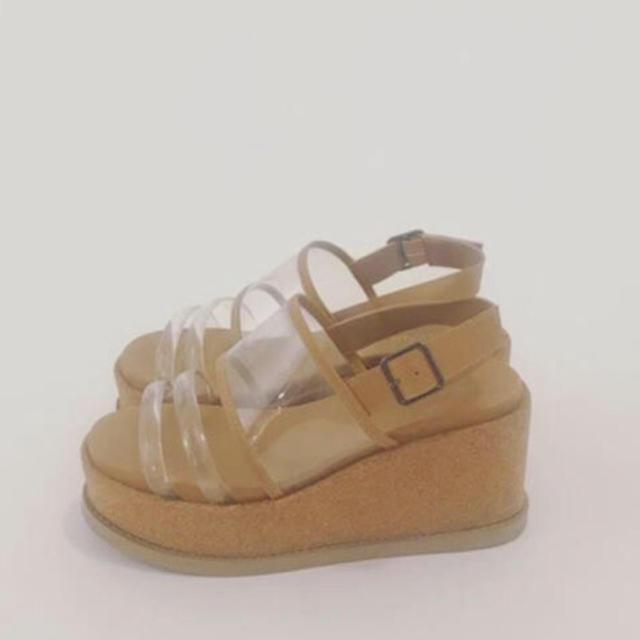 mystic(ミスティック)のmystic コルクストラップサンダル クリア レディースの靴/シューズ(サンダル)の商品写真