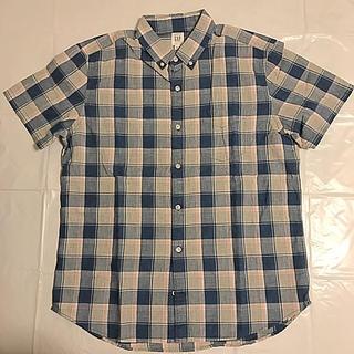 ギャップ(GAP)のGAP 半袖 コットン ボタンダウンシャツ(シャツ)