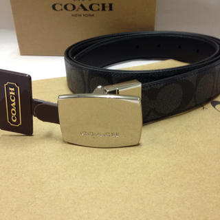 COACH - 【新品・未使用】コーチ メンズ F64828 シグネチャー リバーシブル ベルト