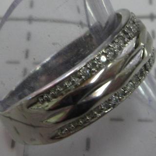 ダイヤ 0.10ct pt999 刻印あり サイズ20号(リング(指輪))