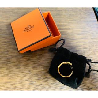 エルメス(Hermes)のHERMES エルメス ベルトモチーフ スカーフリング(リング(指輪))