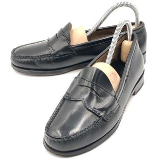 ジーエイチバス(G.H.BASS)のG.H.BASS ジーエイチバス 革靴 ローファー 黒 ブラック 23.5cm(ローファー/革靴)
