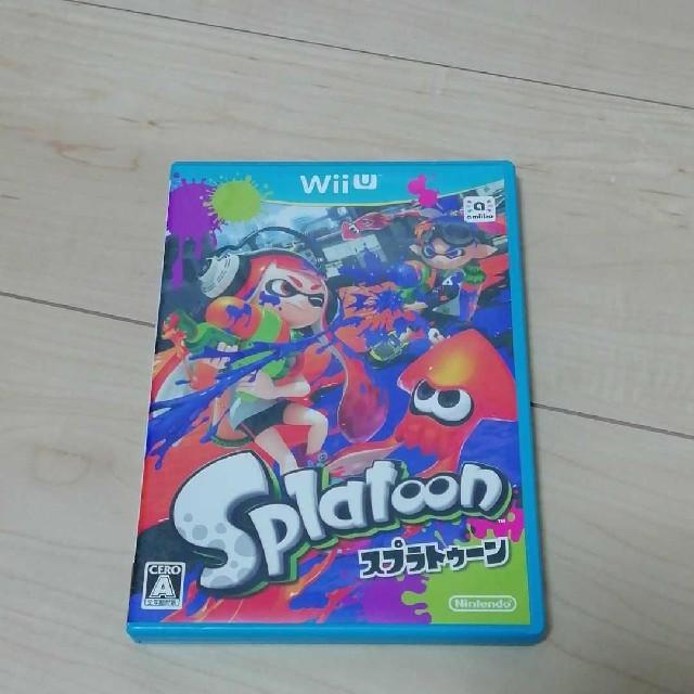 Wii U(ウィーユー)のSplatoon(スプラトゥーン) エンタメ/ホビーのゲームソフト/ゲーム機本体(家庭用ゲームソフト)の商品写真
