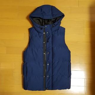 ジーユー(GU)のGU 中綿ベスト メンズ ブルー(ダウンベスト)