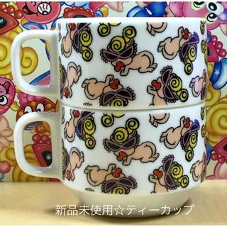 ヒステリックミニ(HYSTERIC MINI)のヒスミニ☆正規品☆新品☆ティーカップ☆2点☆陶器☆ハイハイ☆スタッキング(食器)