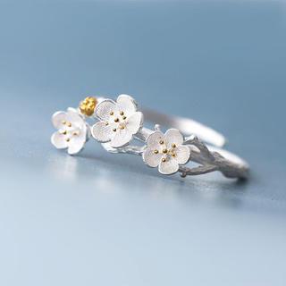 特価高品質!桜のアルミリング 細やかな技術で作られた逸品 6、7号相当(リング(指輪))