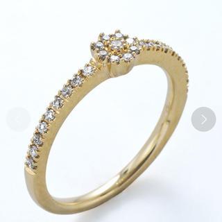 アガット(agete)のベルシオラ k18 ダイヤリング イエローゴールド(リング(指輪))