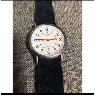 タイメックス(TIMEX)の限定品 TIMEX ヴィンテージ加工真鍮 ネイビー本革スエード(腕時計(アナログ))