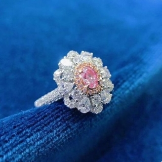 GIA♡L.Pinkダイヤモンドリング(リング(指輪))