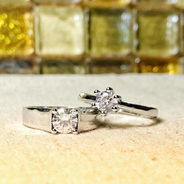 即日発送⭐記念日 誕生日に 2個セット❤️シルバー925ペアリング フリーサイズ レディースのアクセサリー(リング(指輪))の商品写真