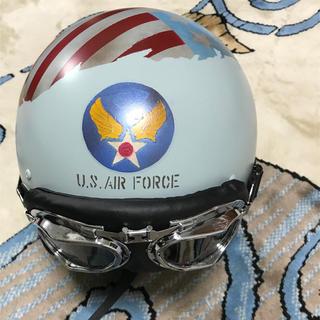 トイズマッコイ(TOYS McCOY)のミリタリーUSエアフォースヴィンテージヘルメットハンドペイント。(ヘルメット/シールド)