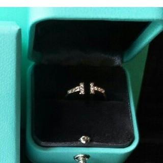 ティファニー(Tiffany & Co.)のティファニー ダイヤ Tワイヤー リング(リング(指輪))