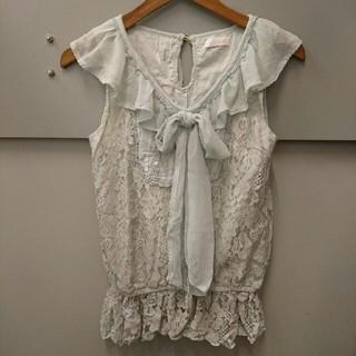 リズリサ(LIZ LISA)のLIZ LISA☆ブラウジングノースリーブレーストップス(カットソー(半袖/袖なし))
