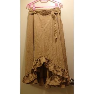 メルロー(merlot)のmerlot の フリルスカート(ひざ丈スカート)