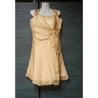 新品 XL  ドレス ゴールド ミディアムドレス レディース ワンピース(ミディアムドレス)