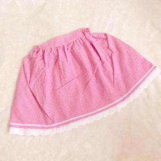 ミキハウス(mikihouse)の【新品未使用】ピンクのチェックスカート 120cm(スカート)