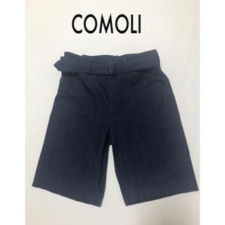 コモリ(COMOLI)のCOMOLI コモリ◆ベルテッドデニム ショートパンツ(ハーフパンツ)(ショートパンツ)