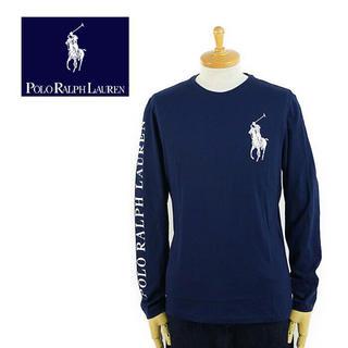 ポロラルフローレン(POLO RALPH LAUREN)の定価9000円程 ポロラルフローレン 袖プリントTシャツ  (Tシャツ/カットソー(七分/長袖))