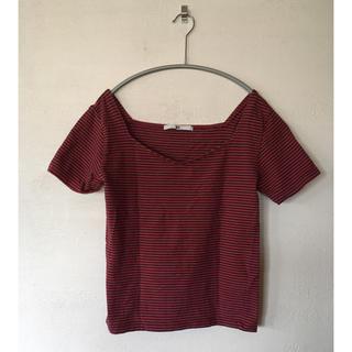 スライ(SLY)の終了間近 SLY ボーダーTシャツ/カットソー(Tシャツ(半袖/袖なし))