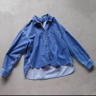 エンフォルド(ENFOLD)の専用 USED美品 ナゴンスタンス  デニムシャツ 38サイズ (シャツ/ブラウス(長袖/七分))