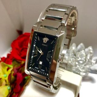 ヴェルサーチ(VERSACE)の良品!稼働品! ヴェルサーチ  腕時計 NLQ99 デイト 反射防止加工(腕時計(アナログ))