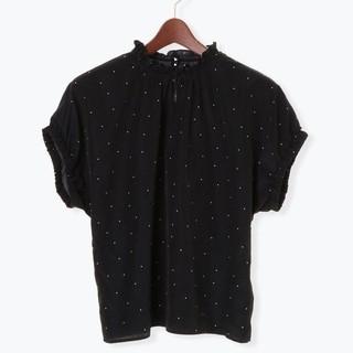テチチ(Techichi)のテチチ シアードットスタンドフリルブラウス(シャツ/ブラウス(半袖/袖なし))