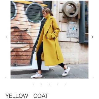 ザラ(ZARA)の【BIRTHDAYBASH】Yellow coat イエロー コート(ロングコート)
