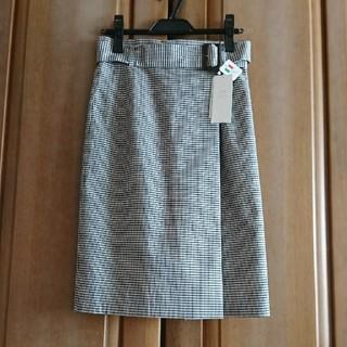 ニジュウサンク(23区)のタグ付き新品 ❤︎23区❤︎ 巻きスカート風 チェック柄 スカート(ひざ丈スカート)