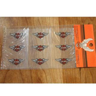 Harley Davidson - ハーレーダビッドソン ウイング バー&シールド 銀 ステッカー 転写 シール