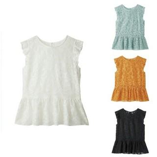 ジーユー(GU)の新品未使用 GU レースペプラムブラウス(ノースリーブ)(シャツ/ブラウス(半袖/袖なし))