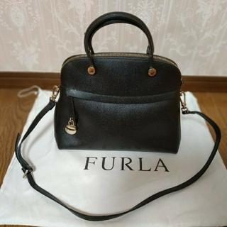 Furla - FURLA 黒ショルダーバッグ 一度使用のみ 美品