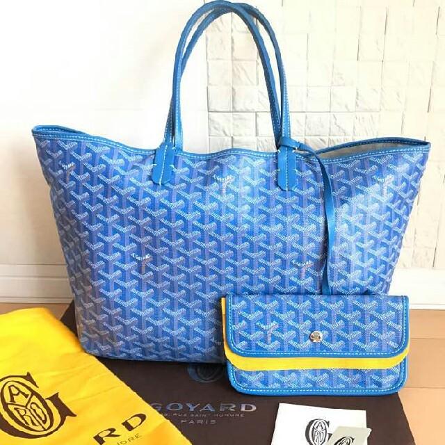 GOYARD(ゴヤール)のゴヤール GOYARD サンルイPM ブルー[正規品] レディースのバッグ(トートバッグ)の商品写真